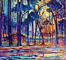 Mondrian Woods Near Oele by Jeffest