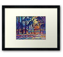 Mondrian Woods Near Oele Framed Print