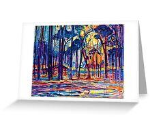 Mondrian Woods Near Oele Greeting Card