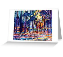 Mondrian Woods Near Oele Greeting Card