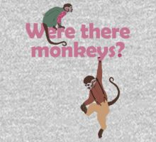 Were there monkeys? (pink) Kids Clothes