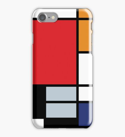 Mondrian Composition With Large Red Plane iPhone Case/Skin