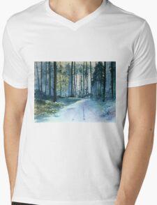 Forest Light Mens V-Neck T-Shirt