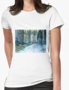 Forest Light Womens Fitted T-Shirt