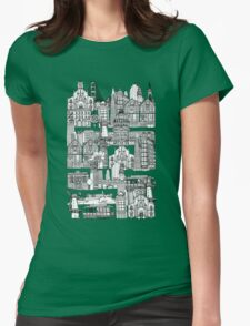 San Francisco green Womens Fitted T-Shirt