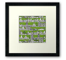 San Francisco green Framed Print