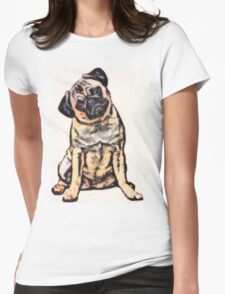 pug 16 Womens Fitted T-Shirt
