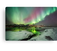 Ice and the Northern Lights Metal Print