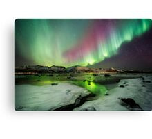Ice and the Northern Lights Canvas Print