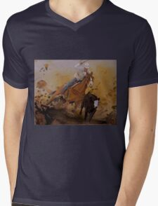 Cowboy Way Mens V-Neck T-Shirt