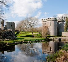 Whittington Castle in Reflection by dunawori