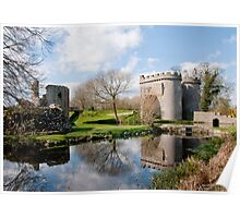 Whittington Castle in Reflection Poster