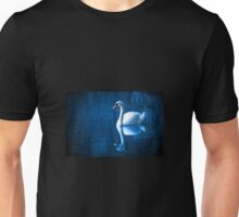 Swan on blue water  Unisex T-Shirt