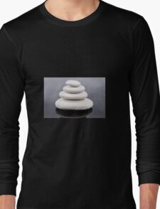 Zen stones white  Long Sleeve T-Shirt