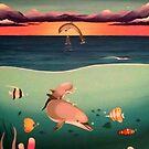Dolphin Painting by AlanZinn