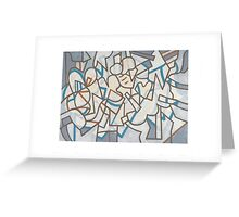 White forms Greeting Card