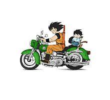 Goku and Gohan Photographic Print