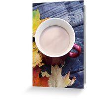 Fall Coffee Greeting Card