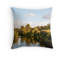 River Severn by Day Throw Pillow