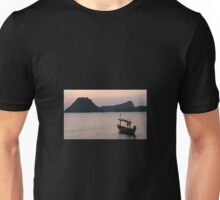 Boat at sunrise  Unisex T-Shirt