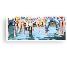 Family on Dock Canvas Print