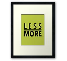 Less Is More Black Mies Van Der Rohe Architecture Tshirt Framed Print