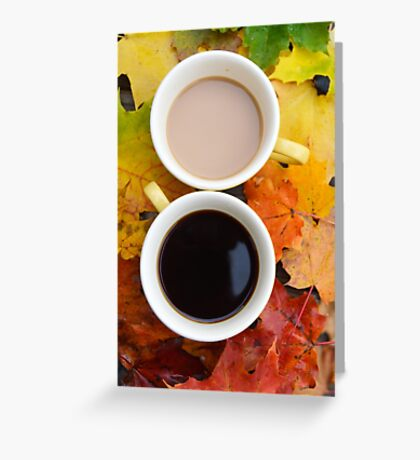 Fall Coffee II Greeting Card