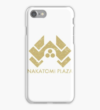 A distressed version of the Nakatomi Plaza symbol iPhone Case/Skin