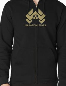 A distressed version of the Nakatomi Plaza symbol Zipped Hoodie