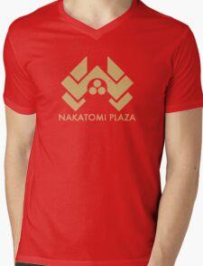 A distressed version of the Nakatomi Plaza symbol Mens V-Neck T-Shirt