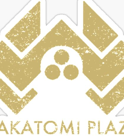 A distressed version of the Nakatomi Plaza symbol Sticker