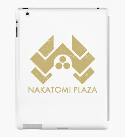A distressed version of the Nakatomi Plaza symbol iPad Case/Skin