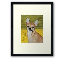 Chihuahua vector Framed Print