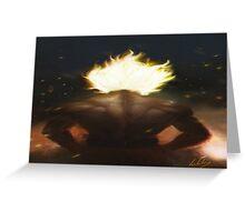 Goku's Aesthetic Back Greeting Card