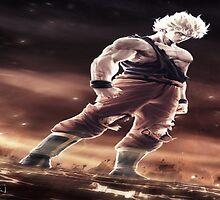 Super Saiyan Goku 3d by BubbaDesigns