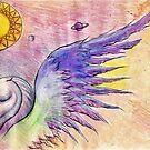 Winged mythical unicorn by Andy  Housham