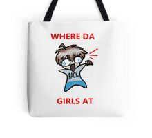 Cute Chibi Boy Slang Tote Bag