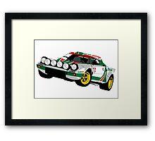 Lancia Stratos Framed Print