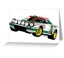 Lancia Stratos Greeting Card