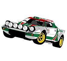 Lancia Stratos Photographic Print