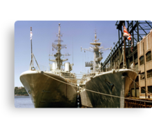 NATO stopped by.... Canvas Print