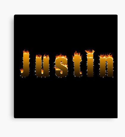 Justin Fire Canvas Print