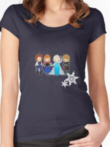 Tiny Frozen Women's Fitted Scoop T-Shirt