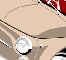 Classic Fiat 500F caricature beige Sticker