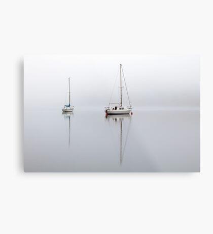 Misty Boats Metal Print