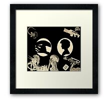 Their First Encounter Framed Print