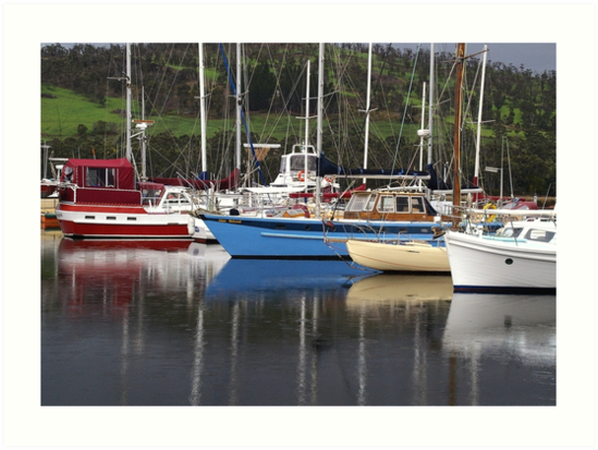 Yachts at Port Huon - Tasmania by Paul Gilbert