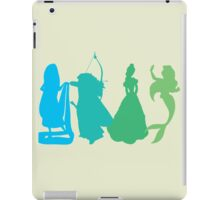 Princess Silhouettes - Blue and Green iPad Case/Skin