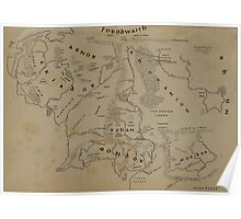 Map of Middle-earth Poster