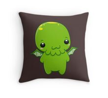 chibi cthulhu - the green monster Throw Pillow